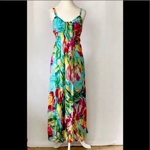 Klozlyne Colorful Lined Sleeveless Maxi Dress